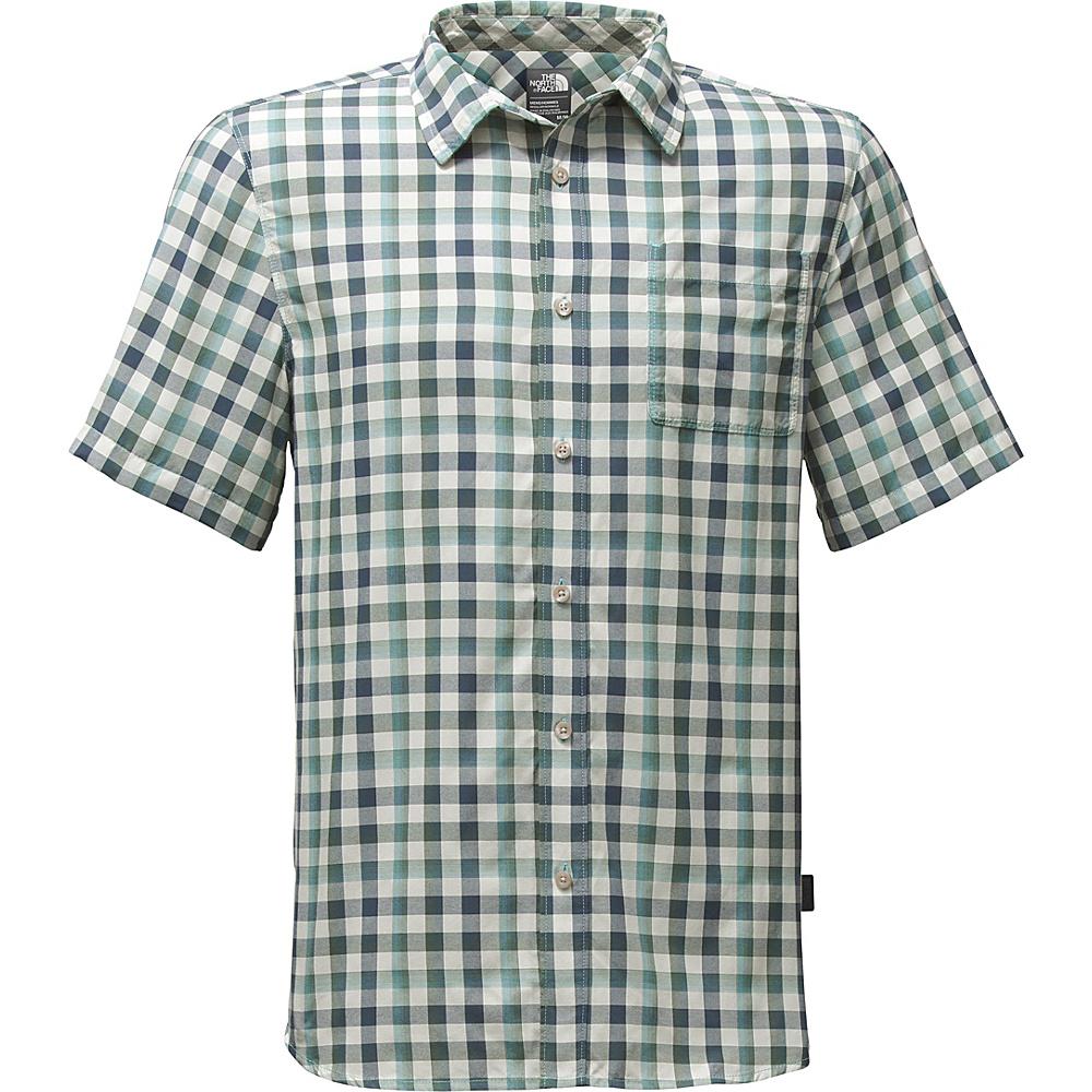 The North Face Mens Short Sleeve Getaway Shirt S - Blizzard Blue Plaid - The North Face Mens Apparel - Apparel & Footwear, Men's Apparel