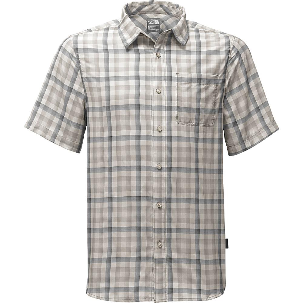 The North Face Mens Short Sleeve Getaway Shirt M - Zinc Grey Plaid - The North Face Mens Apparel - Apparel & Footwear, Men's Apparel