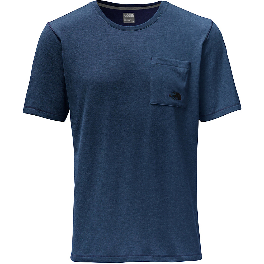 The North Face Mens Short Sleeve Crag Crew L - Shady Blue Heather - The North Face Mens Apparel - Apparel & Footwear, Men's Apparel