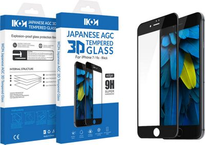 IKON Japanese AGC 3D Tempered Glass For iPhone 7/6S