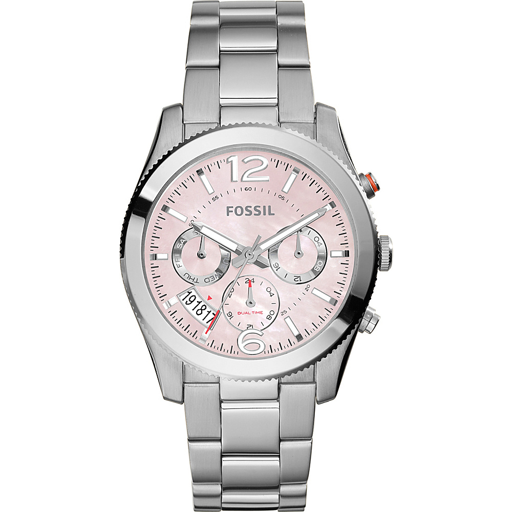 Fossil Perfect Boyfriend Multifunction Stainless Steel Watch Silver - Fossil Watches - Fashion Accessories, Watches