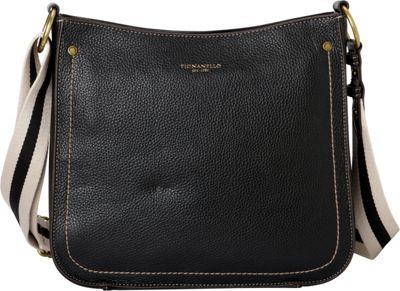 Tignanello The Explorer Messenger Black - Tignanello Leather Handbags