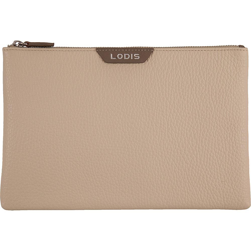 Lodis Valencia Flat pouch Cream - Lodis Womens Wallets - Women's SLG, Women's Wallets