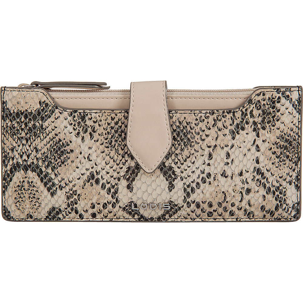 Lodis Kate Exotic Sandy Multi Pouch Wallet Black/Taupe - Lodis Womens Wallets - Women's SLG, Women's Wallets