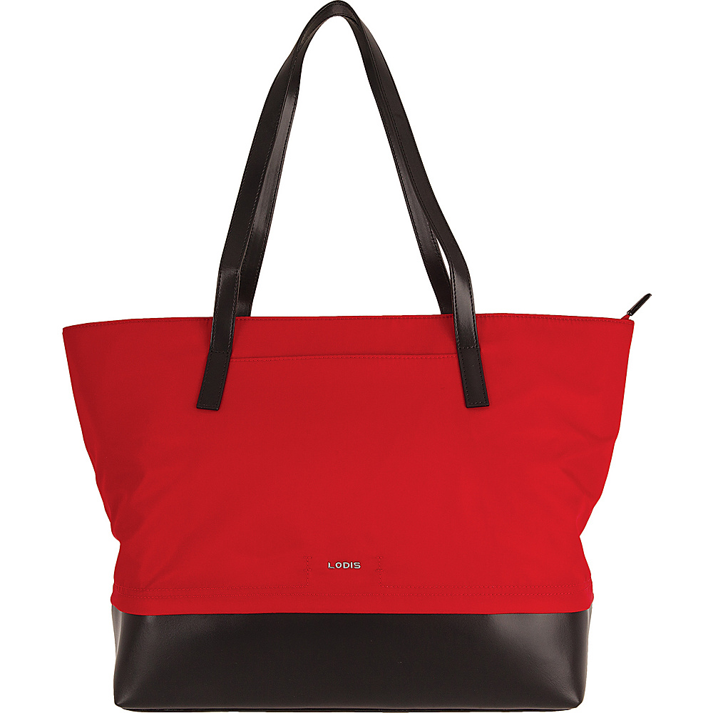 Lodis Kate Nylon Under Lock & Key Fabia Tote Red - Lodis Fabric Handbags - Handbags, Fabric Handbags