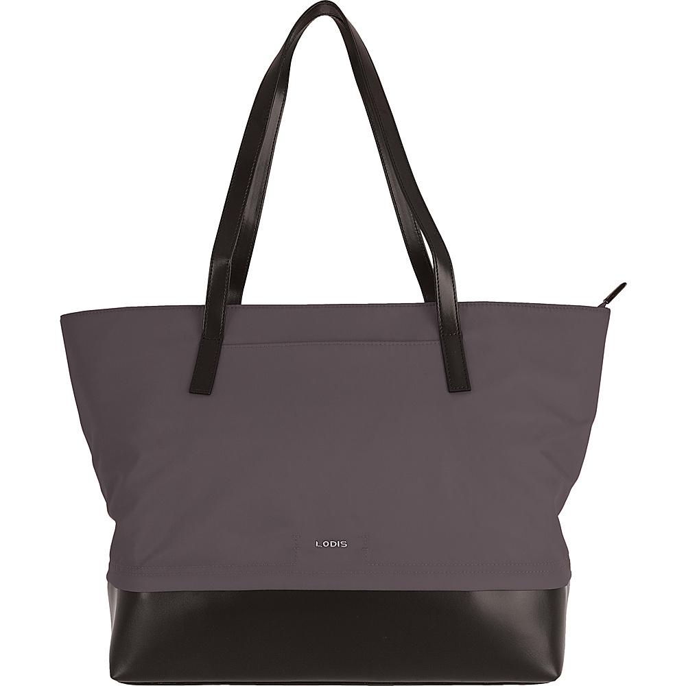 Lodis Kate Nylon Under Lock & Key Fabia Tote Grey - Lodis Fabric Handbags - Handbags, Fabric Handbags