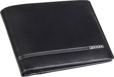 Cross Mens Leather Bifold Wallet with Removable Credit Card Case Black - Cross Men's Wallets