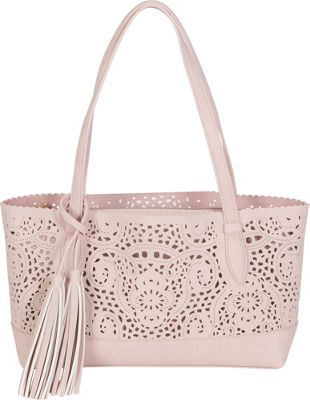 BUCO Small Crochet Tote Blush - BUCO Fabric Handbags