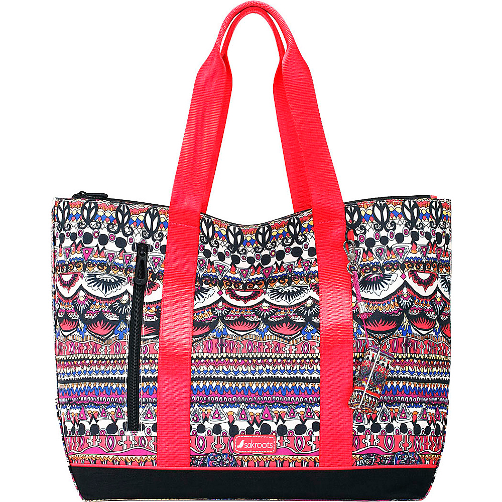 Sakroots New Adventure Finch Large Tote Camel One World - Sakroots Fabric Handbags - Handbags, Fabric Handbags