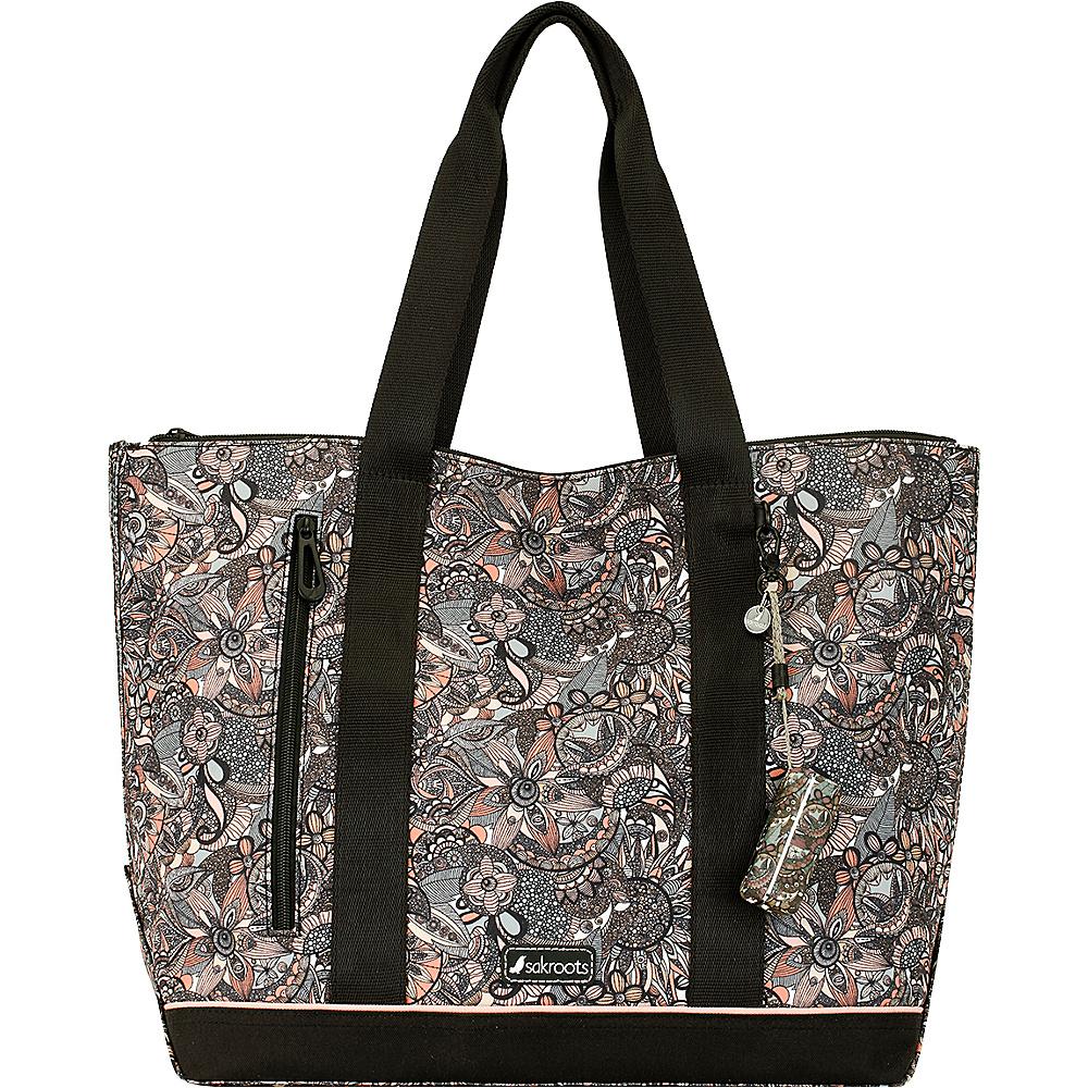Sakroots New Adventure Finch Large Tote Sienna Spirit Desert - Sakroots Fabric Handbags - Handbags, Fabric Handbags