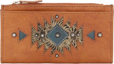 American West Ladies' Folded Wallet Golden Tan - American West Women's Wallets