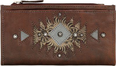 American West Ladies' Folded Wallet Chestnut Brown - American West Women's Wallets