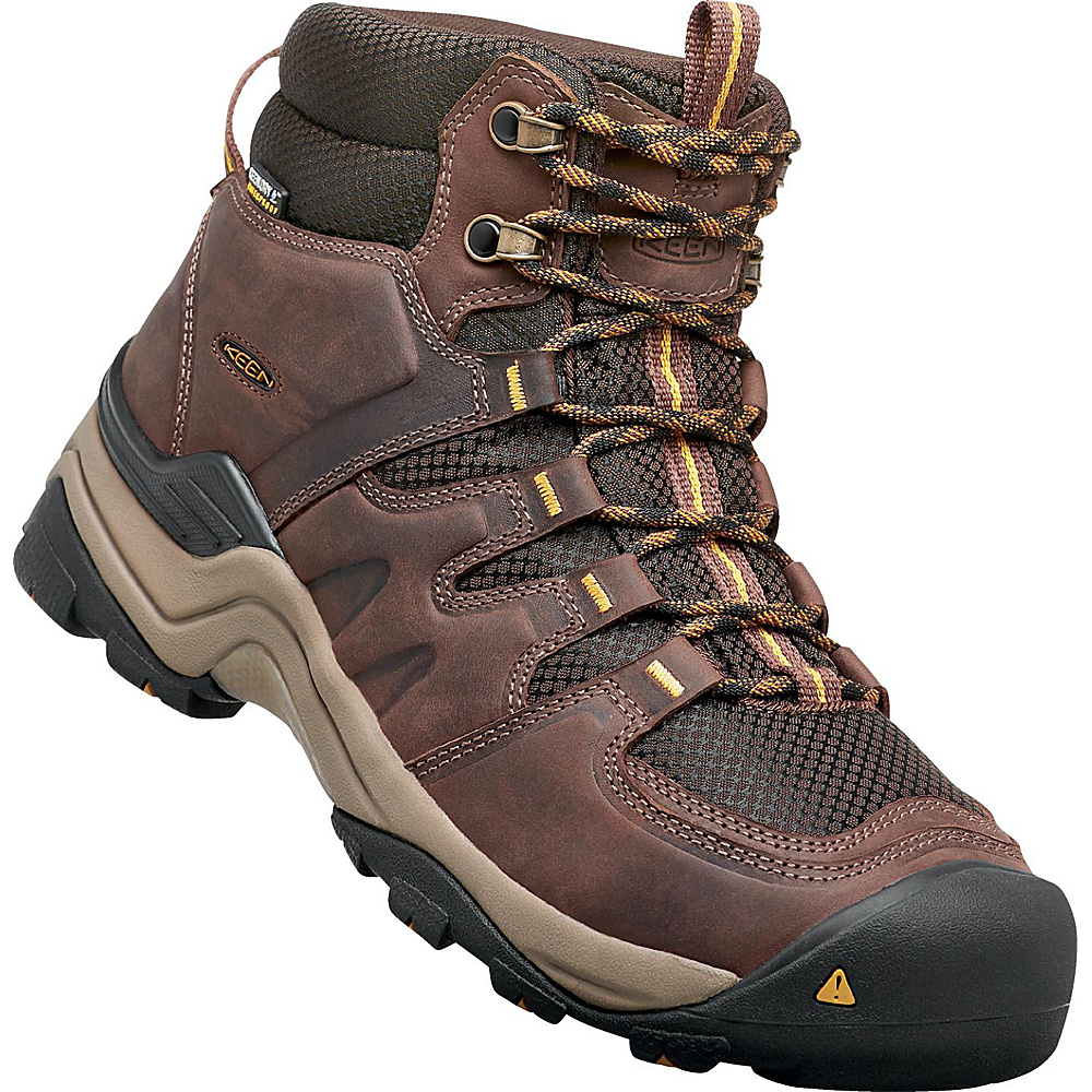 KEEN Gypsum II Mid Waterproof Boot 8 - Coffee Bean/Bronze Mist - KEEN Mens Footwear - Apparel & Footwear, Men's Footwear