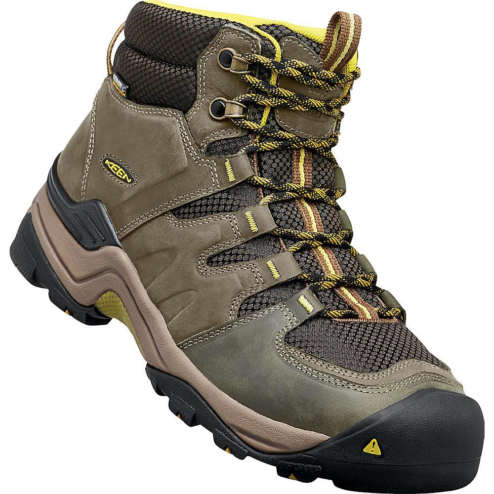 KEEN Gypsum II Mid Waterproof Boot 9.5 - Forest Night/Warm Olive - KEEN Mens Footwear - Apparel & Footwear, Men's Footwear