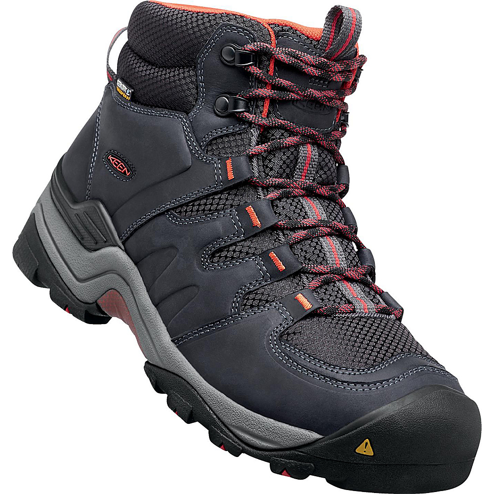 KEEN Gypsum II Mid Waterproof Boot 10.5 - India Ink/Burnt Ochre - KEEN Mens Footwear - Apparel & Footwear, Men's Footwear