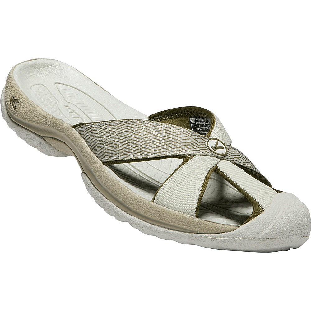 KEEN Womens Bali Sandal 9 - Agate Grey/Dark Olive - KEEN Womens Footwear - Apparel & Footwear, Women's Footwear
