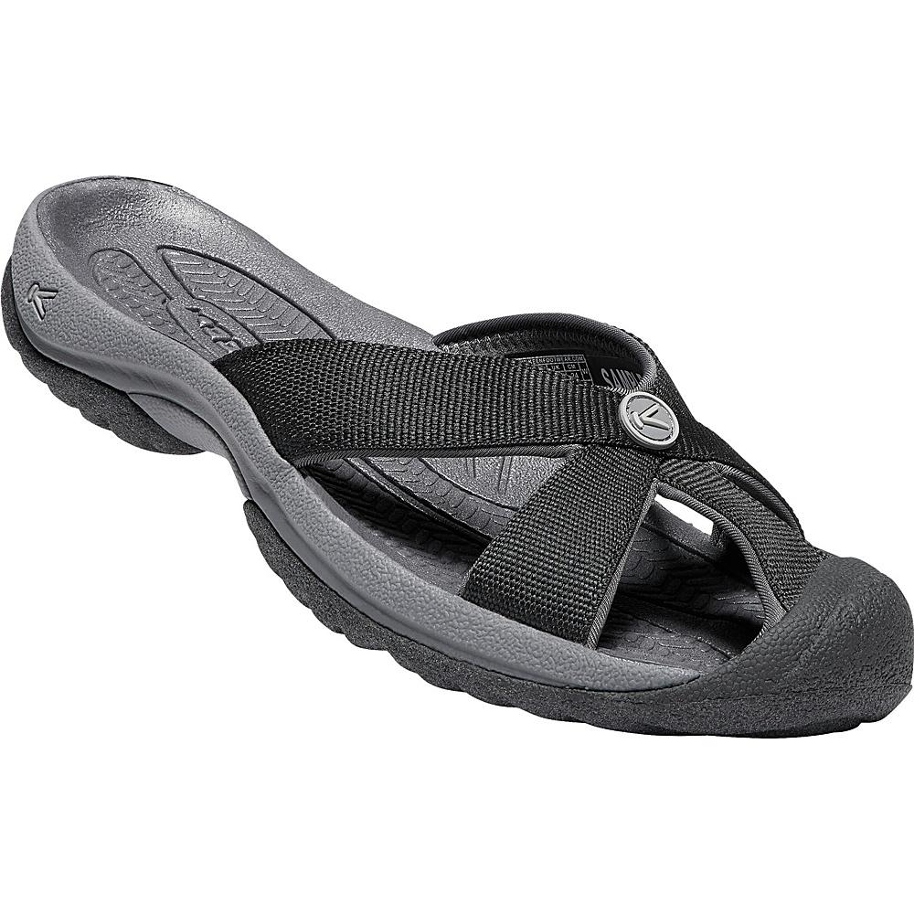 KEEN Womens Bali Sandal 6.5 - Black/Magnet - KEEN Womens Footwear - Apparel & Footwear, Women's Footwear