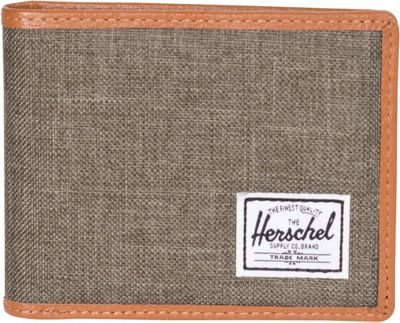 Herschel Supply Co. Taylor Bi-Fold Wallet Canteen Crosshatch/Tan Leather - Herschel Supply Co. Men's Wallets