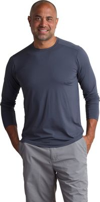 ExOfficio Mens Sol Cool Performance Crew Long Sleeve Shirt S - Carbon - ExOfficio Men's Apparel