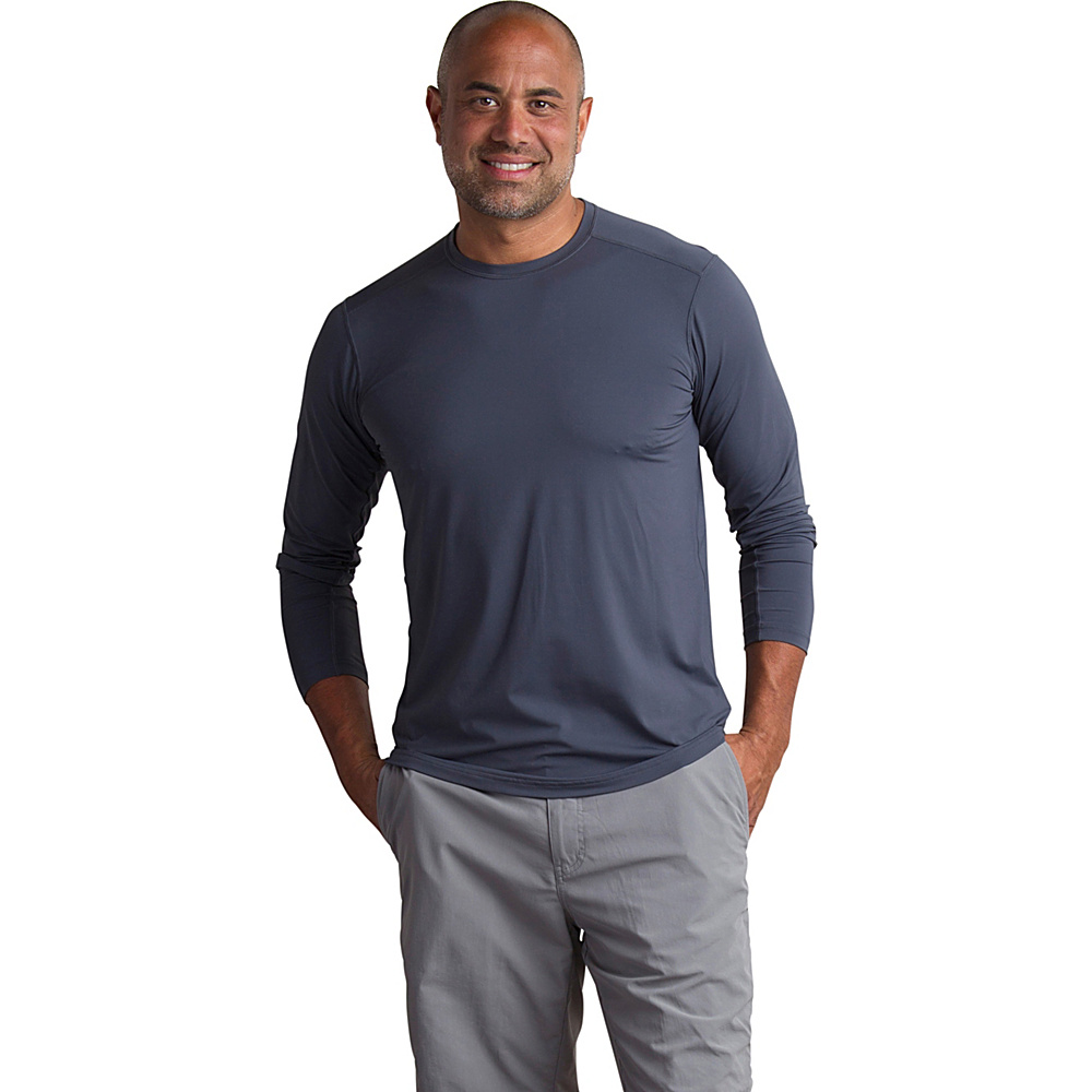 ExOfficio Mens Sol Cool Performance Crew Long Sleeve Shirt XL - Carbon - ExOfficio Mens Apparel - Apparel & Footwear, Men's Apparel