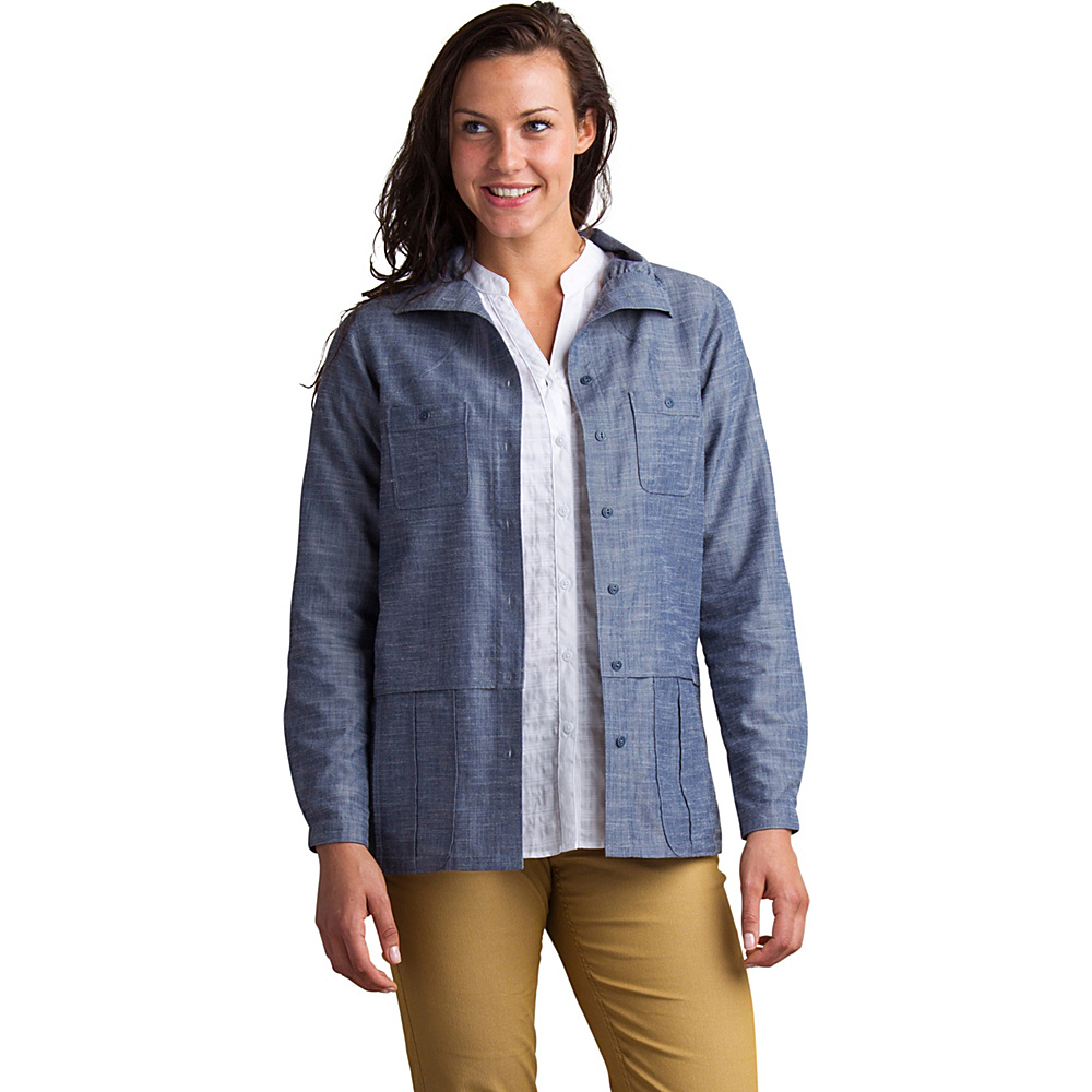 ExOfficio Womens Sol Cool Chambray Long Sleeve Shirt S - Indigo - ExOfficio Womens Apparel - Apparel & Footwear, Women's Apparel