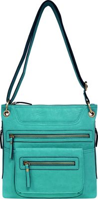 Bueno Multi Zip Crossbody Jade - Bueno Manmade Handbags