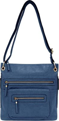 Bueno Multi Zip Crossbody Blue Multi - Bueno Manmade Handbags