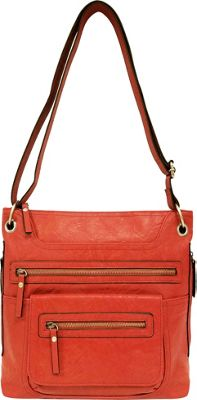 Bueno Multi Zip Crossbody Coral - Bueno Manmade Handbags