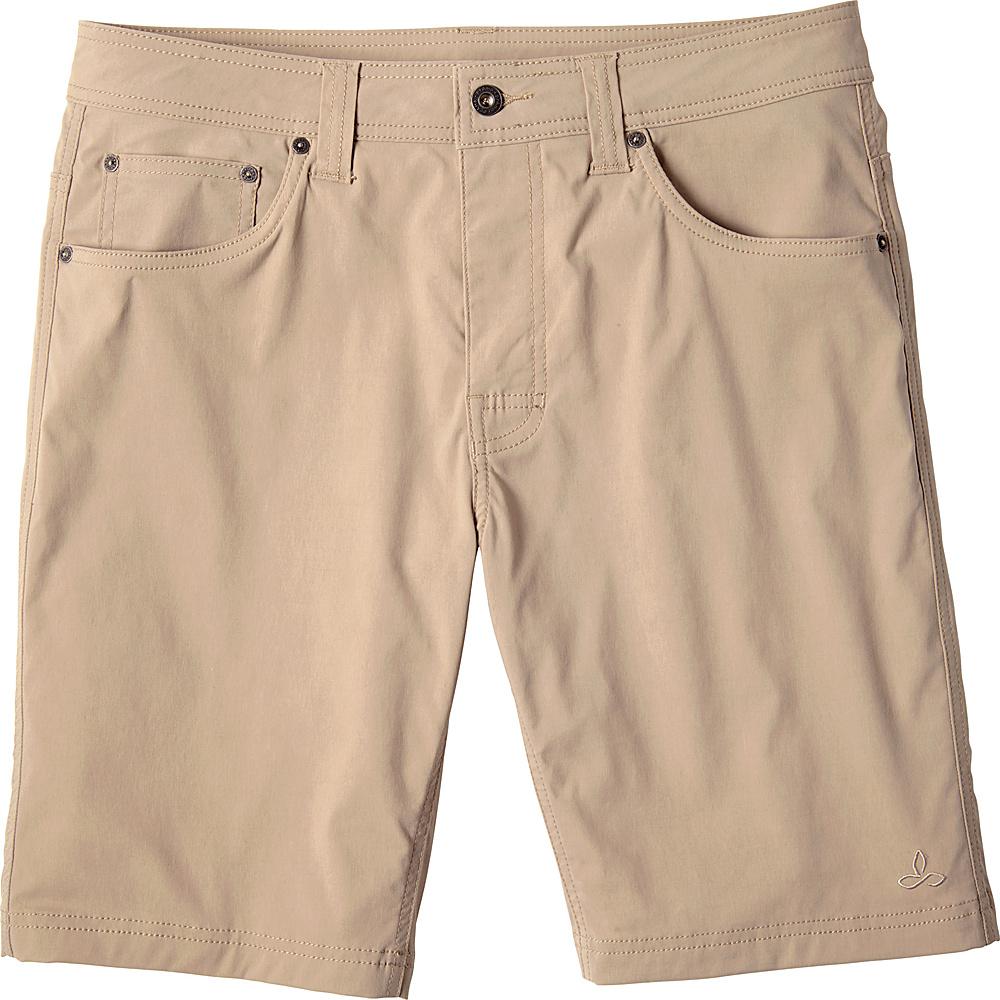 PrAna Brion Short - 11 Inseam 28 - Dark Khaki - PrAna Mens Apparel - Apparel & Footwear, Men's Apparel