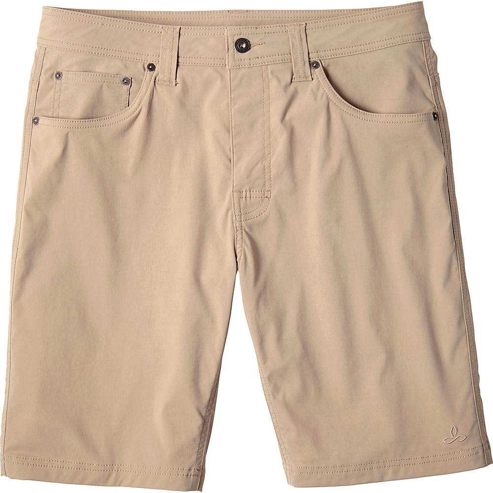 PrAna Brion Short - 11 Inseam 30 - Dark Khaki - PrAna Mens Apparel - Apparel & Footwear, Men's Apparel