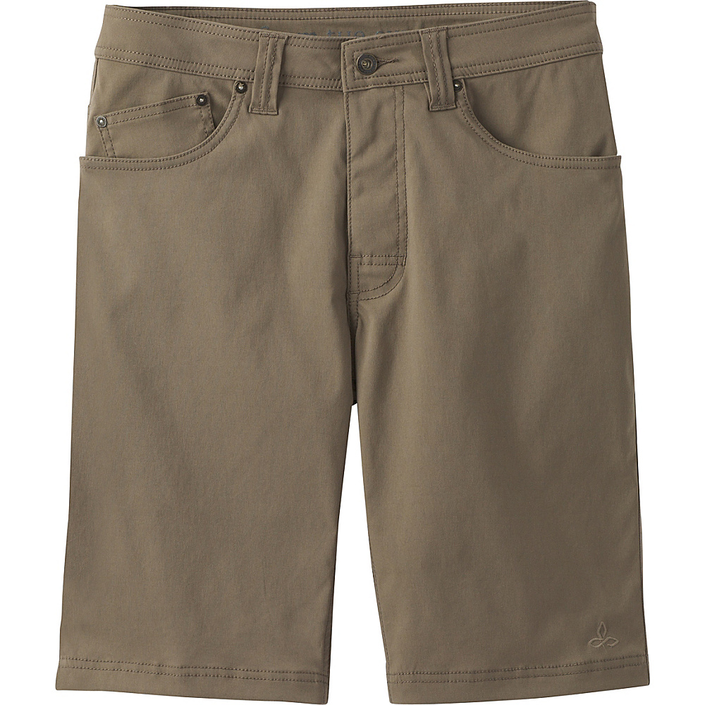 PrAna Brion Short - 11 Inseam 34 - Mud - PrAna Mens Apparel - Apparel & Footwear, Men's Apparel