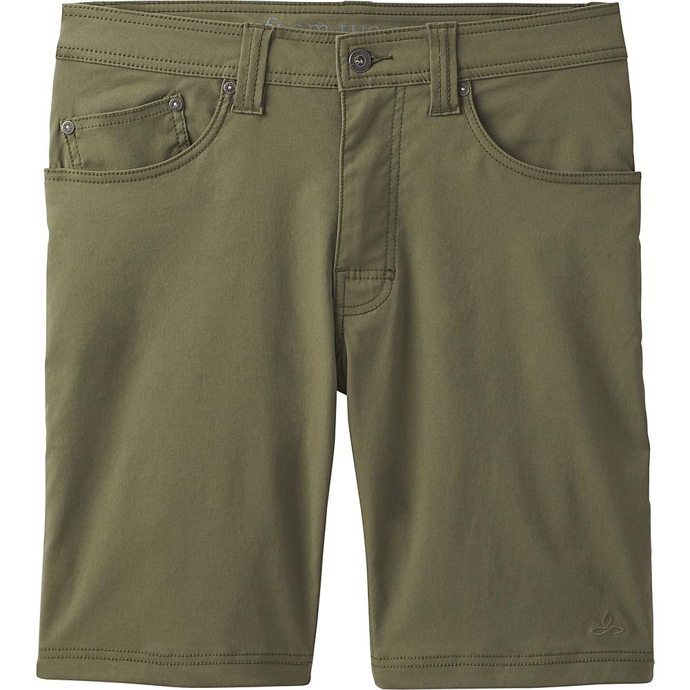 PrAna Brion Short - 11 Inseam 30 - Cargo Green - PrAna Mens Apparel - Apparel & Footwear, Men's Apparel