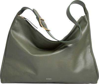Skagen Anesa Leather Shoulder Bag Agave - Skagen Leather Handbags