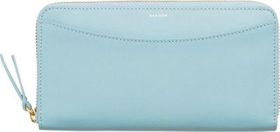 Skagen Continental Leather Zip Wallet Sky Blue - Skagen Women's Wallets