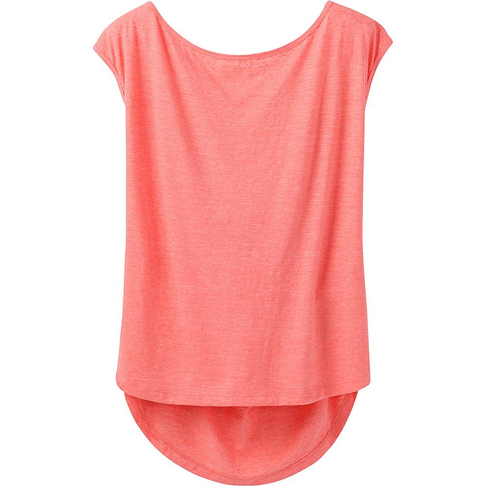 PrAna Constance Top S - Summer Peach - PrAna Womens Apparel - Apparel & Footwear, Women's Apparel