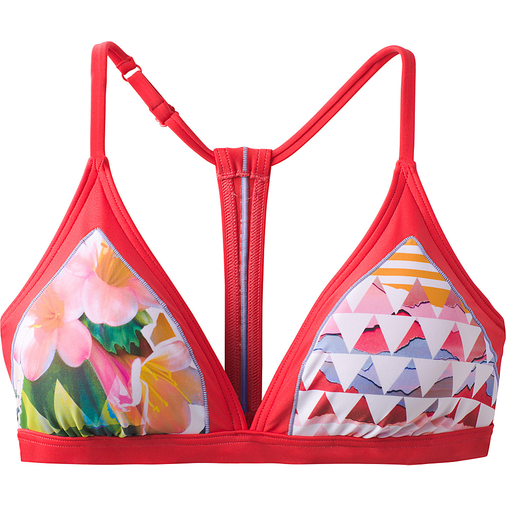 PrAna Aleka Swim Top S - Carmine Pink Paradise - PrAna Womens Apparel - Apparel & Footwear, Women's Apparel