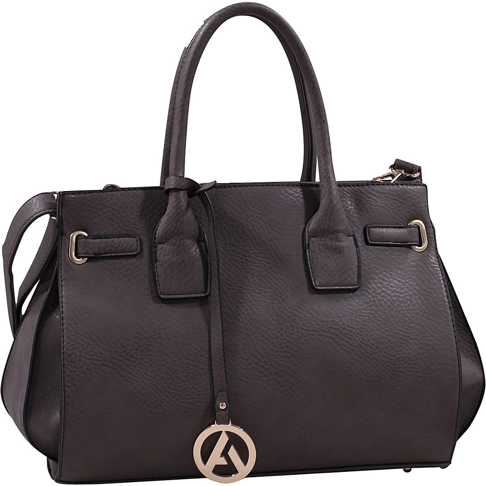 MKF Collection Amelia Satchel with Removable Shoulder Strap Grey - MKF Collection Manmade Handbags - Handbags, Manmade Handbags