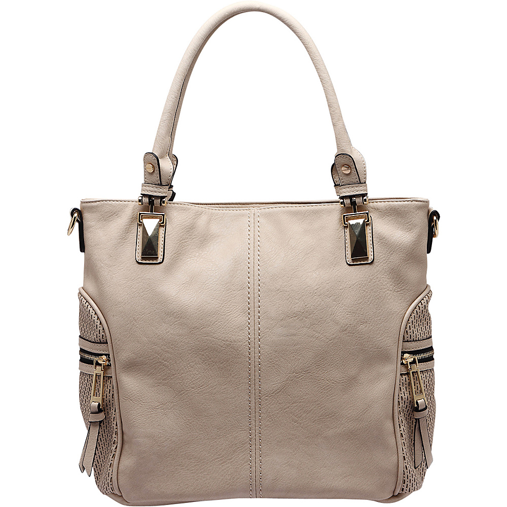 MKF Collection by Mia K. Farrow Avlyn Shoulder Bag Beige - MKF Collection by Mia K. Farrow Manmade Handbags - Handbags, Manmade Handbags