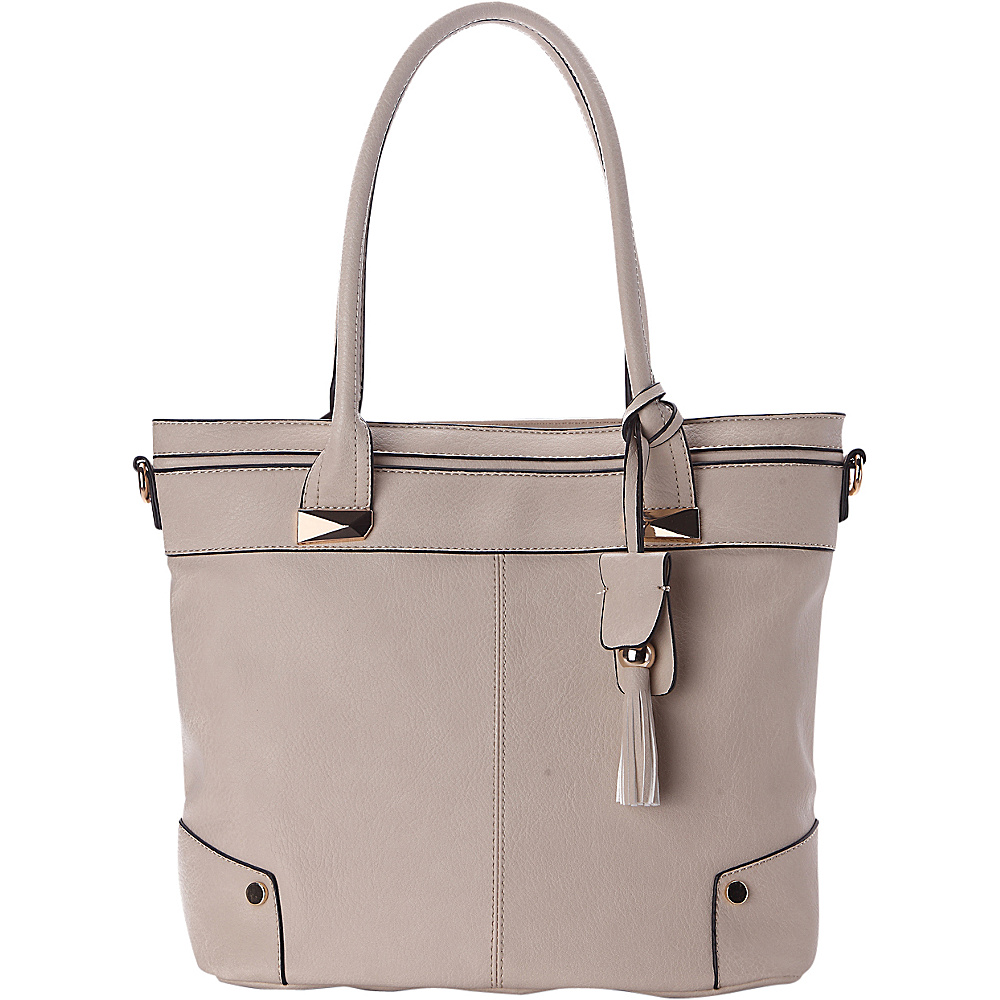 MKF Collection by Mia K. Farrow Zayla Tote Beige - MKF Collection by Mia K. Farrow Manmade Handbags - Handbags, Manmade Handbags