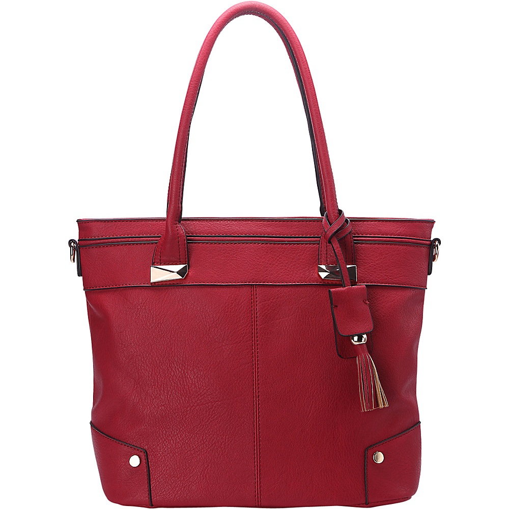 MKF Collection by Mia K. Farrow Zayla Tote Red - MKF Collection by Mia K. Farrow Manmade Handbags - Handbags, Manmade Handbags