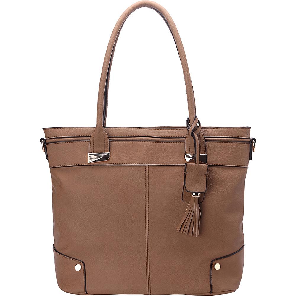 MKF Collection by Mia K. Farrow Zayla Tote Taupe - MKF Collection by Mia K. Farrow Manmade Handbags - Handbags, Manmade Handbags
