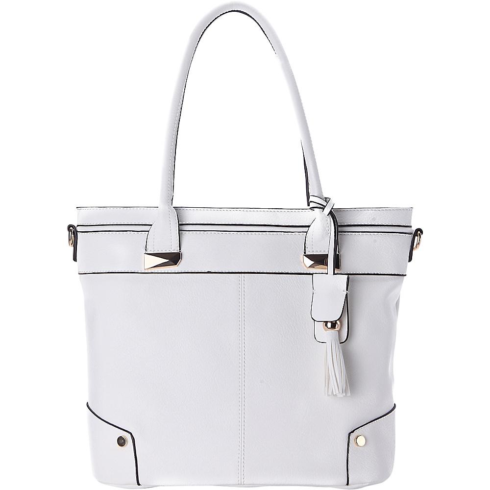 MKF Collection by Mia K. Farrow Zayla Tote White - MKF Collection by Mia K. Farrow Manmade Handbags - Handbags, Manmade Handbags