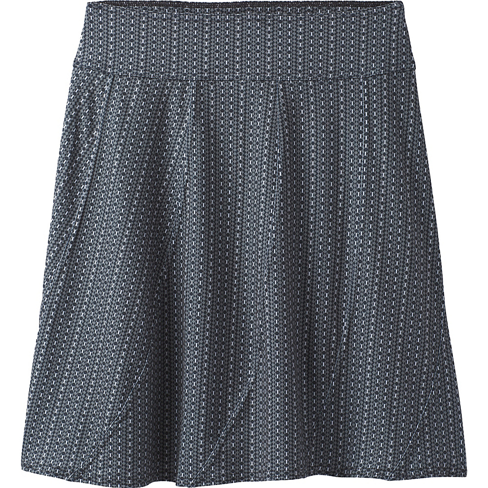 PrAna Vendela  Printed Skirt S - Charcoal Parade - PrAna Womens Apparel - Apparel & Footwear, Women's Apparel