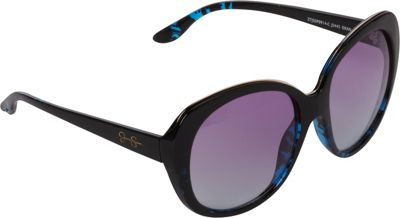 Jessica Simpson Sunwear Glam Plastic Sunglasses Black animal - Jessica Simpson Sunwear Eyewear