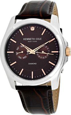 Kenneth Cole Watches Men's Diamond Watch Brown - Kenneth Cole Watches Watches