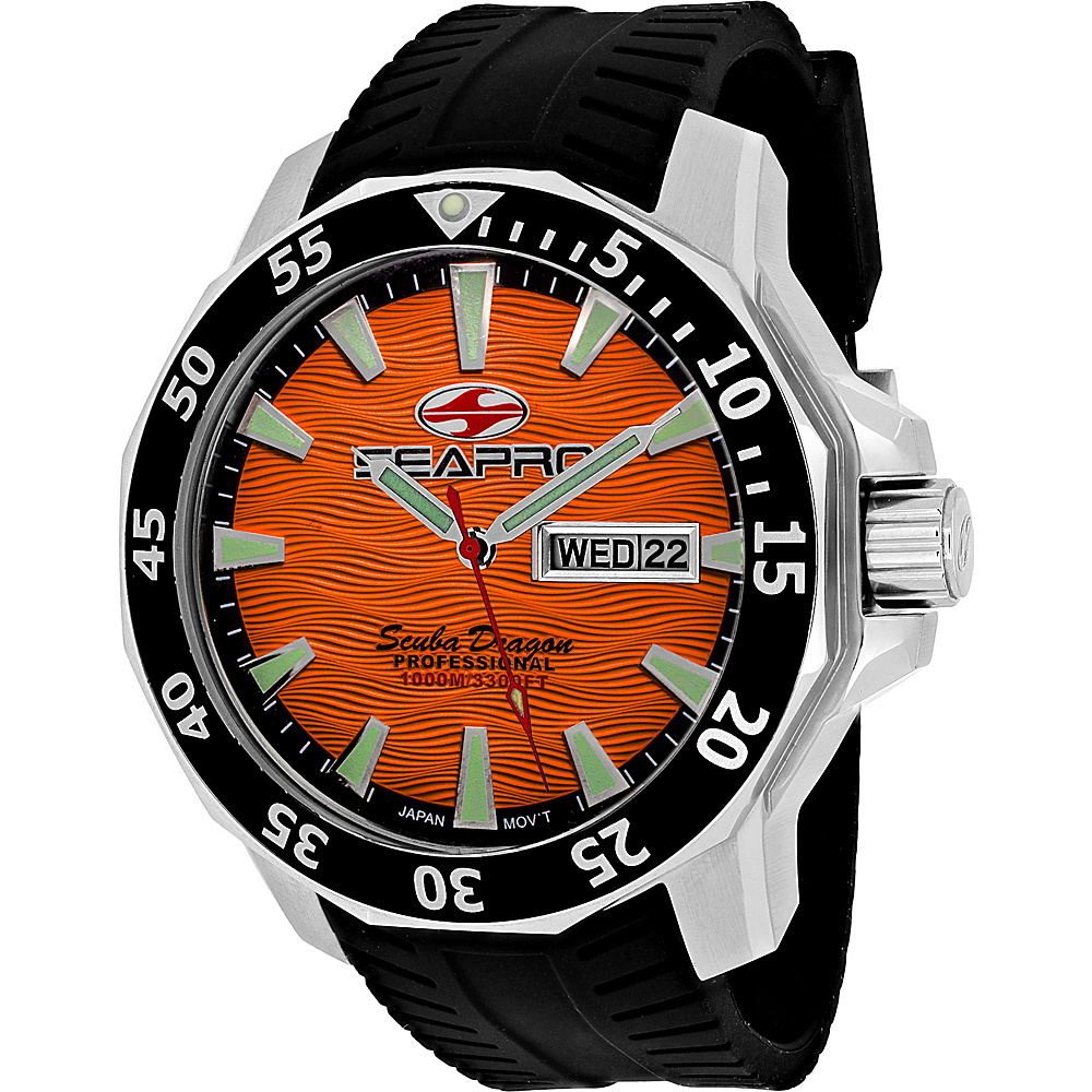 Seapro Watches Men s Scuba Dragon Diver Limited Edition 1000 Me Watch Orange Seapro Watches Watches