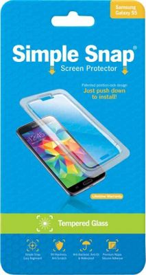 Simple Snap Screen Protector for Samsung Galaxy S5 Tempered Glass Transparent - Simple Snap Electronic Accessories