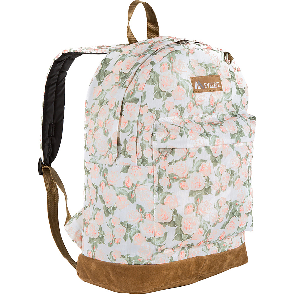 Everest Suede Bottom Pattern Backpack Vintage Floral - Everest School & Day Hiking Backpacks - Backpacks, School & Day Hiking Backpacks