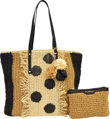 Tommy Bahama Handbags Tommy Bahama Mama Tote Black Multi - Tommy Bahama Handbags Fabric Handbags
