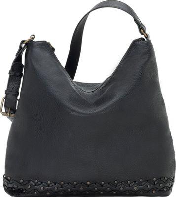 TrueLu The Emily Hobo Black - TrueLu Leather Handbags